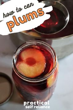 Canning plums is a simple way to preserve plums for year-round use.  Plums can be preserved as halves or wholes (with pits or without), and canned in your choice of water, juice, or syrup.