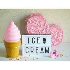 A Little Lovely Company ijsjes lamp roze