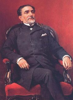 Práxedes Mariano Mateo Sagasta y Escolar (21 July 1825 – 5 January 1903) was a Spanish politician who served as Prime Minister on eight occasions between 1870 and 1902—always in charge of the Liberal Party—as part of the turno pacifico, alternating with the Liberal-Conservative leader Antonio Cánovas. A Freemason, he was known for possessing an excellent oratorical talent.