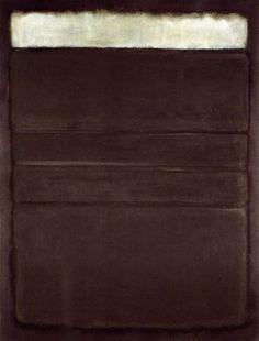Mark Rothko, White, Blacks, Greys On Maroon (1963)