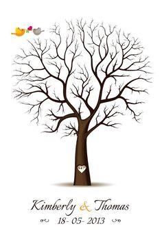 Fingerprint+Guest+Book+Template | fingerprint tree template free