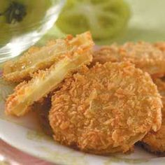Fried Green Tomatoes Recipe - Panko bread crumbs have a coarser ...