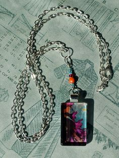 """Purple Joy"" Handmade Glass Pendant Necklace by turquoiseeye, £12.20"