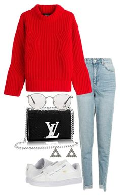 """""""Untitled #3563"""" by theeuropeancloset ❤ liked on Polyvore featuring Topshop, Dsquared2, Puma and Ray-Ban"""