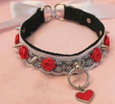 Cute but how long will it really last? Easy DIY Kitten's Playpen Red Rose and Lace Collar, $22.00
