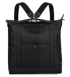 MULBERRY Multitasker Grained Leather Backpack. #mulberry #bags #leather #backpacks #