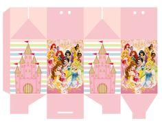 ArteMática - Festas Infantis e Presentes Personalizados: Para Imprimir e Montar: Caixa Milk Princesas