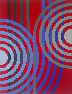 Carlos Presto (Uruguay, 1960), Redondas y corcheas / Wholes and eighths, Acrílico sobre lienzo / Acrylic on canvas, 30 x 23 cm / 9 x 12 in, 2015