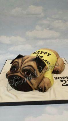 Pug dog cake