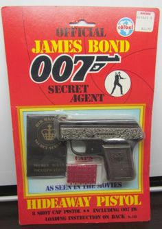 Vintage COIBEL Official James Bond 007 Secret Agent Hideaway Cap Gun Pistol MOC