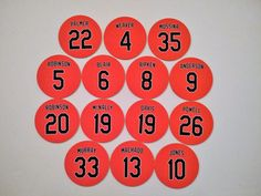 Baltimore Oriole Magnets Jerseys Refrigerator Magnets - Pick Any Retired Number Refrigerator Magnets, Baltimore Orioles, Christmas Presents, Basketball, Fan, Number, Gifts, Xmas Gifts, Presents
