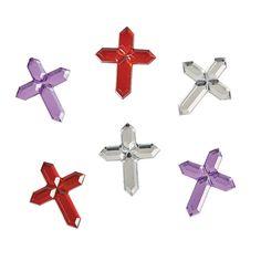 Self-Adhesive+Cross+Jewels+-+OrientalTrading.com $5.40