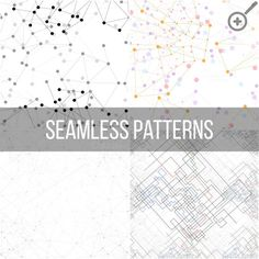 Molecular structure seamless pattern by VectorShop on Creative Market
