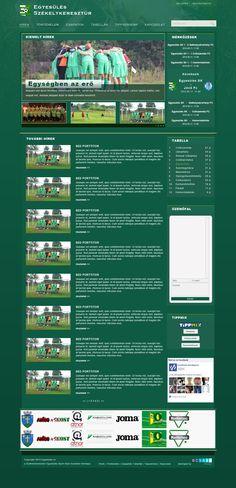A Székelykeresztúri Egyesülés készülő honlapjának designja.