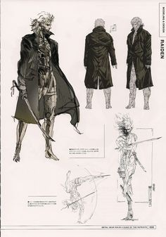 Cyborg Raiden from Metal Gear Solid 4 by Yoji Shinkawa