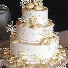 Свадебный торт с ракушками