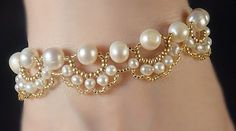 Woven Pearl Bracelet by Fleur-de-Irk