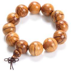Buddha Charm Bangle Bauhinia Championii Beads Bracelet Fine Texture Traditional Chinese Medicine Health Care Men Jewelry