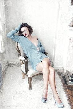 Miss Keira in a soft sweater and heels. Perfect for a romantic Vivian's Muse shoot...