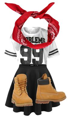 first day of school outfit by madi6503 on Polyvore featuring Timberland