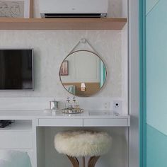 Perfect Idea Room Decoration The bedroom is a the theater for intensity. Home Office, Sweet Home, Mirror, Interior Design, Furniture, Rooms, White Bedroom, Magazines, Bedroom Decor