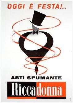 Asti Spumante Riccadonna / Testa Armando Formato   Verticale Paese   Italia Anno   1948
