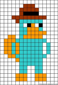Perry Phineas & Ferb perler bead pattern