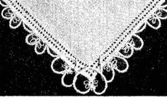 1950s Tatting PATTERN 5909 a Lovely Heart Tatted by BlondiesSpot