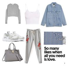 """""""cozy days"""" by deborahossi on Polyvore featuring Monki, Johnstons of Elgin, NIKE, McQ by Alexander McQueen, BasicGrey and Dasein"""