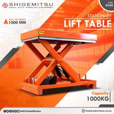 Shigemitsu Stationary Lift Table #indotara #ptindotarapersada #indotarapersada #ptindotara #shigemitsu #gudang #semielectric #handlift #peralatanindustri #handstacker #lifttables #gudang #lifttable #heavyduty #handlingequipment #warehouseequipment #warehouseequipments #juallifttablejakarta #juallifttablebandung #juallifttablemedan #juallifttablesurabaya #juallifttablesemarang