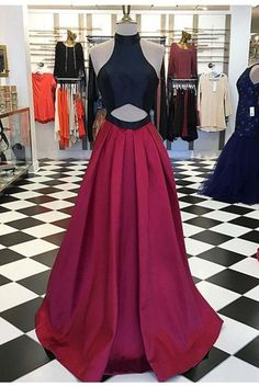 Red Chiffon Prom Dresses A-line Long Evening Dresses,simple Formal Dress For Graduation Senior Prom Dresses, A Line Prom Dresses, Cheap Prom Dresses, Dresses For Teens, Sexy Dresses, Beautiful Dresses, Dress Prom, Party Dresses, Occasion Dresses