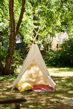 Get the most instagram-worthy tent outside of Coachella. Our Handmade Cotton Canvas Teepee is perfect for back garden adventures.