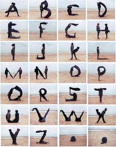 so cool! Human letters!