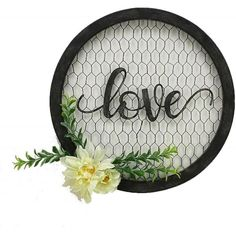 Dollar Tree Decor, Dollar Tree Crafts, Shabby Chic Wall Decor, Wood Wall Decor, Chicken Wire Crafts, Chicken Wire Frame, Embroidery Hoop Decor, Love Wall, Wall Décor