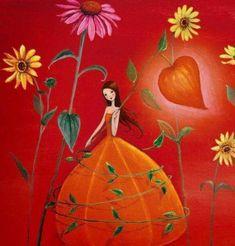 Chi Dedica Tempo a Se Stesso, Fiorisce Ogni Giorno. Art And Illustration, Illustrations, Fantasy Kunst, Fantasy Art, Photo Deco, Girl Artist, Jolie Photo, Naive Art, Whimsical Art
