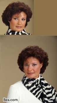Human hair short wig by Clary. Designed with the petite look in mind, the Bea features naturally curly hair. Front hairline is swept away from the face, without any ty Short Curly Styles, Curly Hair Styles, Swept Away, Short Wigs, Hairline, Naturally Curly, Face, Color, Short Curly Hairstyles