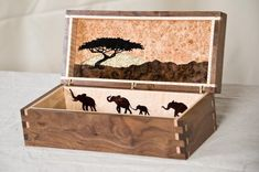 Custom African Themed Jewelry Box by AWL WoodWorks