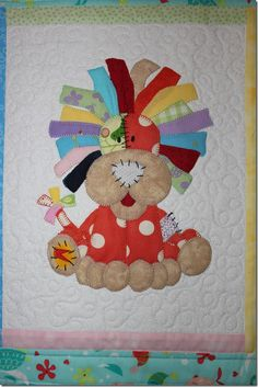 cute lion patch for quilts Cute Quilts, Boy Quilts, Girls Quilts, Mini Quilts, Quilt Baby, Quilt Block Patterns, Applique Patterns, Sewing Appliques, Patchwork Quilting
