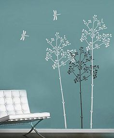 Cutting Edge Stencils - Going To Seed Wall Stencil