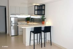 Minimalista cocina Diseño Interior. Construcción de departamentos según elección.