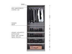 Porro Spa - Organizzare l'interno/ Organize the interior Men Closet, Wardrobe Closet, Built In Wardrobe, Closet Bedroom, Walk In Closet, Shelf Furniture, Built In Furniture, Wardrobe Dimensions, Wardrobe Dresser