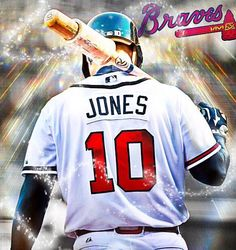 Best Baseball Player, Braves Baseball, Baseball Jerseys, Chipper Jones, Atlanta Braves, Larry, Goat, Mlb, Sports