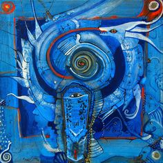 "Saatchi Art Artist Cora de Lang; Painting, ""WHITE DRAGON - SOLD"" #art"