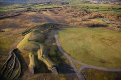 The UK's largest earth sculpture is a gigantic horse leaping across the land!