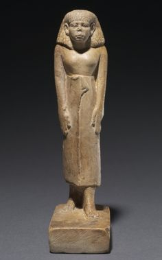 Egypt, Middle Kingdom, Second half Dynasty 12 to Dynasty 13, reign of Amenemhat III or later, painted limestone, Overall - h:18.00 w:4.50 d:8.60 cm (h:7 1/16 w:1 3/4 d:3 3/8 inches). John L. Severance Fund 1985.136