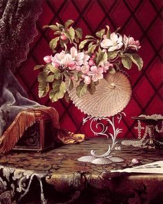 martin johnson heade art | Paintings Reproductions Heade, Martin Johnson Still Life with Apple ...
