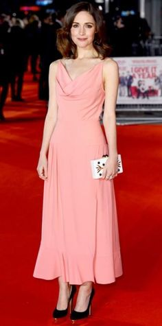 Look of the Day › January 25, 2013 WHAT SHE WORE Rose Byrne walked the red carpet for the London premiere of I Give It A Year in a draped Balenciaga dress, embellished Thale Blanc clutch, Dana Rebecca Designs jewelry and platform Charlotte Olympia heels. WHY WE LOVE IT The actress looked simply stunning in her soft and sweet design #charlotteolympiaheelsred #charlotteolympiaheelswalks #charlotteolympiaheelsplatform #premierdesignsjewelry