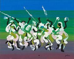 African Dance by Walter Battiss. Art Brut, Naïve Art (Primitivism). figurative