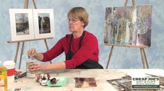 Cathy Taylor- Altering Papers Pt 3- Painting Altered Papers