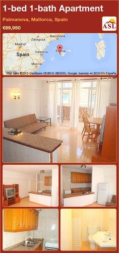 Apartment for Sale in Palmanova, Mallorca, Spain with 1 bedroom, 1 bathroom - A Spanish Life Murcia, Valencia, Barcelona, Family Resorts, One Bedroom Apartment, Open Plan Living, Cafe Bar, Apartments For Sale, Zaragoza